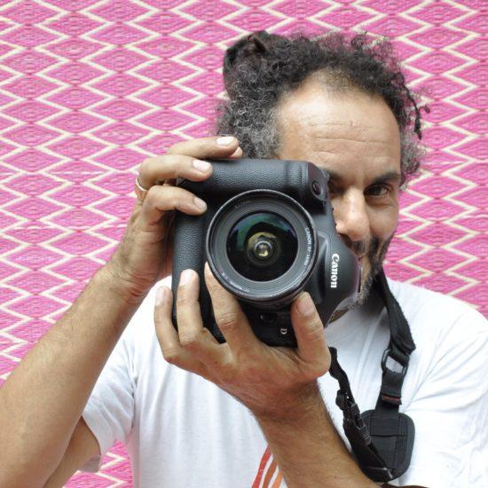A portrait of Hassan Hajjaj